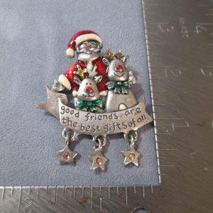 Santa Friendship Brooch