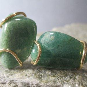 tumbled jade cuff links