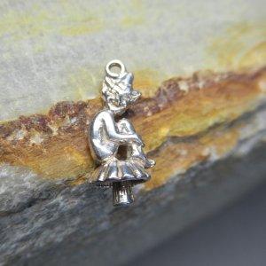 sterling silver garden fairy charm