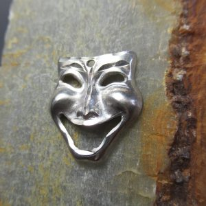 Sterling Silver Comedy Theater Mask
