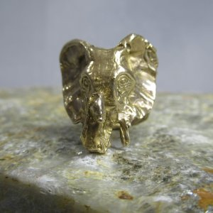 Artisan Bronze Elephant Ring