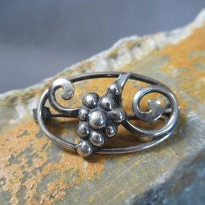 Sterling Silver Hops Brooch