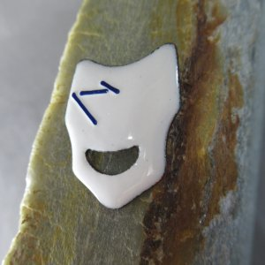 Abstract Enamel Comedy Mask