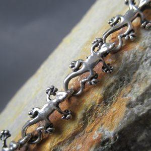 Sterling Lizard Chain Bracelet