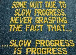 Slow Progress is Progress to a Successful Journey