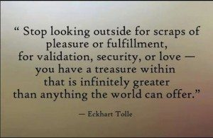Stop looking outside for scraps of fulfillment