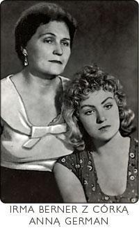 Irma z córką Anną German