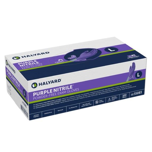 Halyard Nitrile Gloves (Purple|Powder Free)