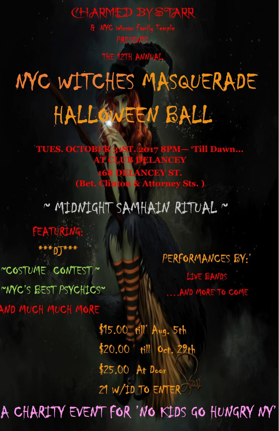 Witches Ball 20`17 poster front