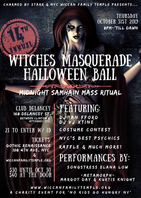 NYC WITCHES HALLOWEEN MASQUERADE BALL TICKETS - The New York City