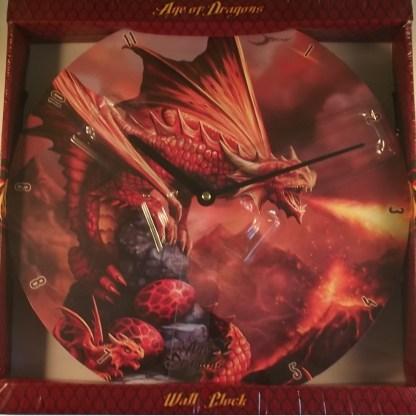 red dragon clock