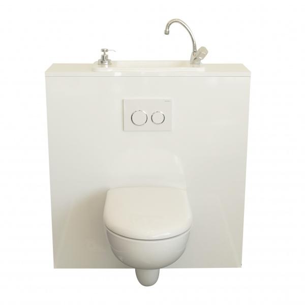 wc suspendu geberit avec lave main