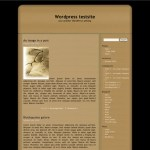 Kubric WordPress Theme modification in Sepia tones