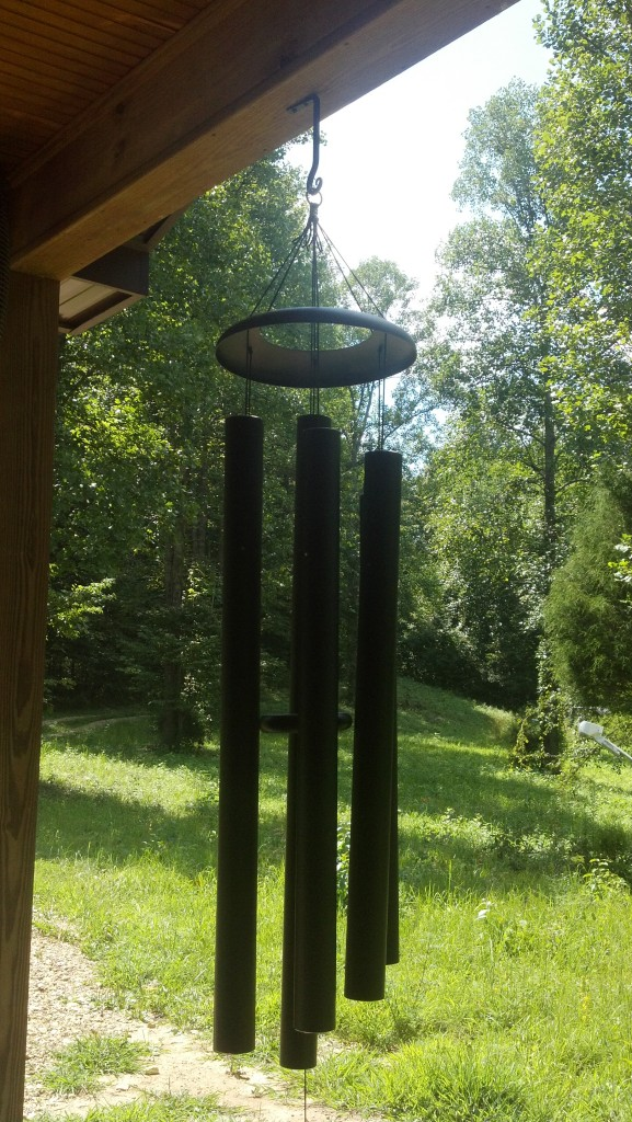 Windchimes ring in the Fall Season in Kentucky at the cabin