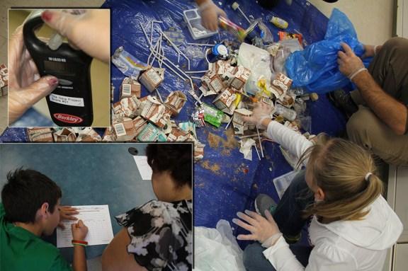 Audit des déchets mené à l'école Blanche-Bourgeois de Cocagne