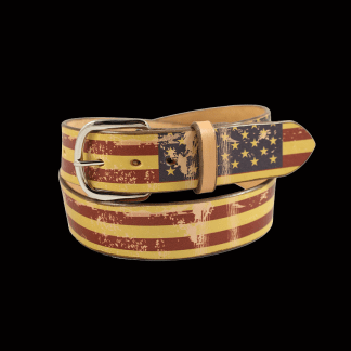 Distressed American Flag Belt