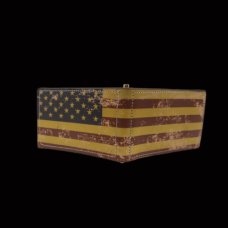 0d4c846e5d3 The American Flag Distressed Bifold Wallet -