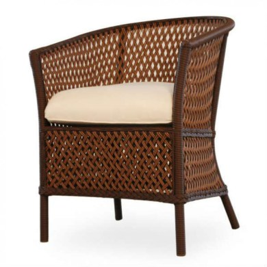 Lloyd Flanders Grand Traverse Wicker Barrel Chair   Wicker com Lloyd Flanders Grand Traverse Wicker Barrel Chair