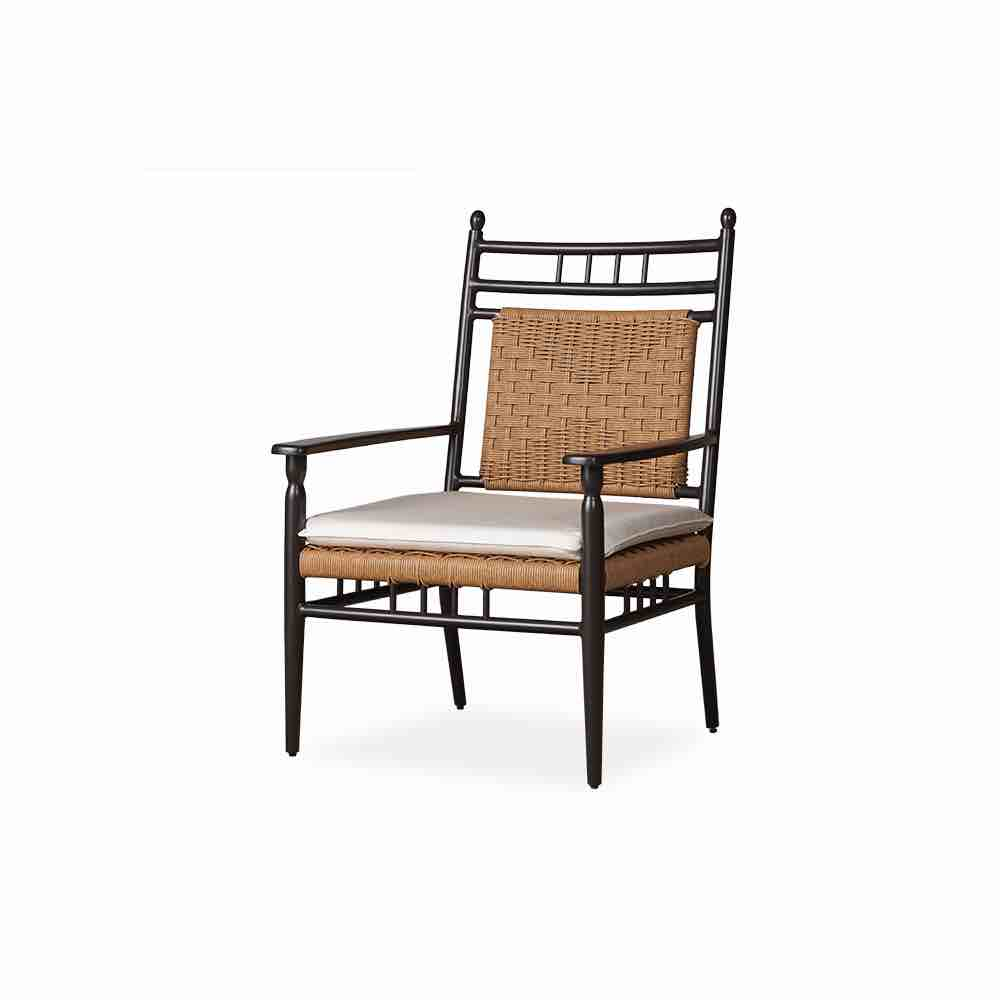 low country outdoor wicker cushionless lounge chair