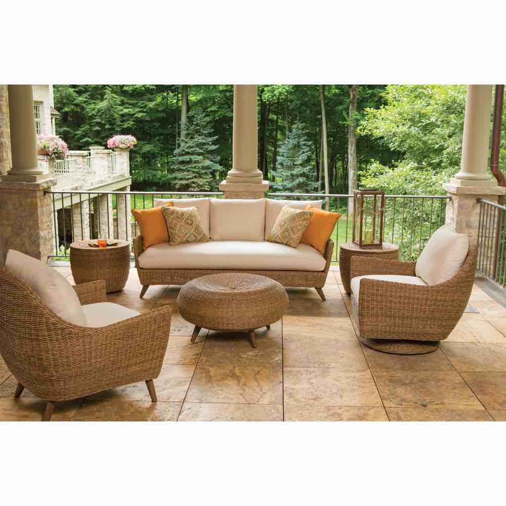 Outdoor Wicker Sofa | Tobago | Lloyd Flanders on Outdoor Living Wicker  id=65836