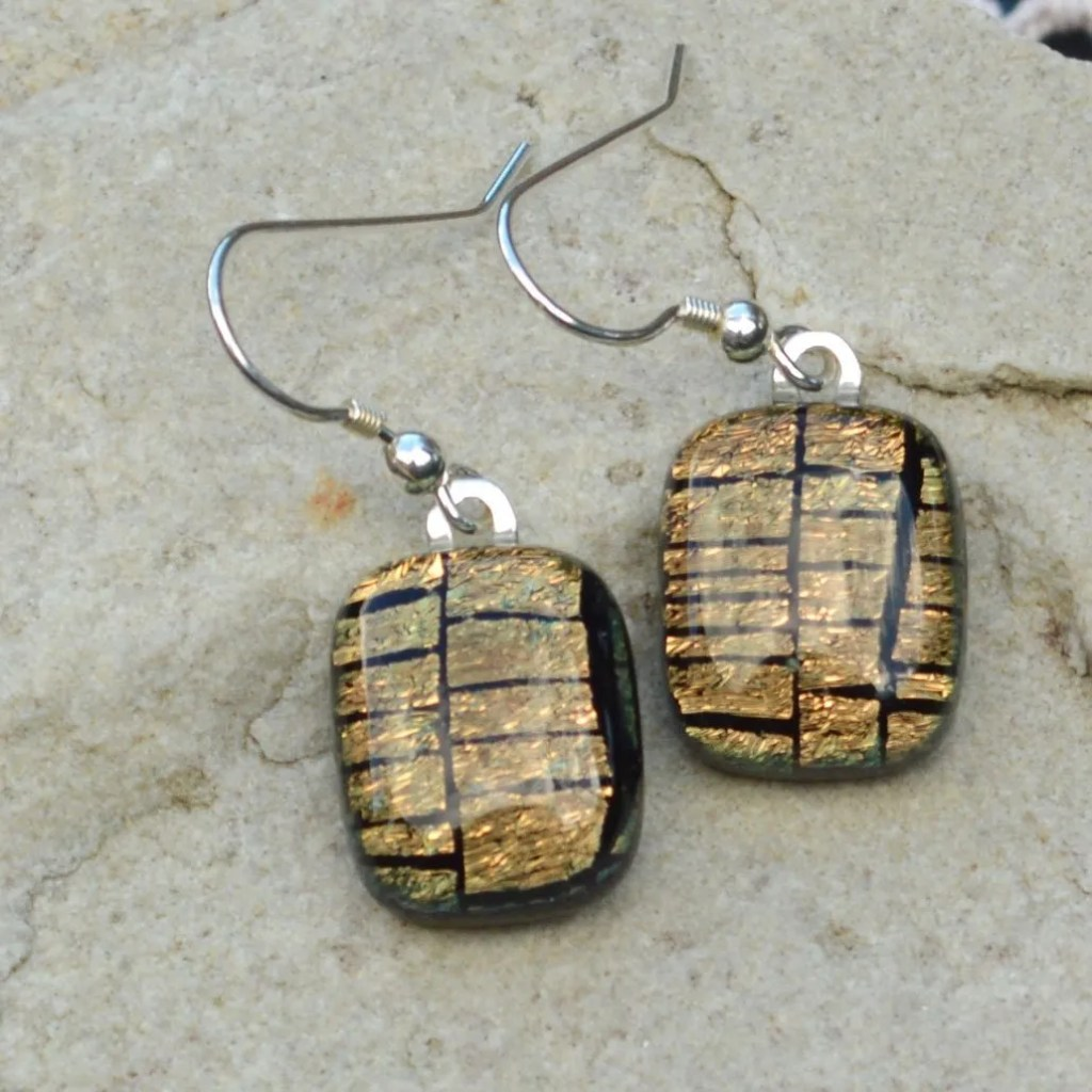 Wickstead's-AW-Designs-UK-Golden-Copper-Sterling-Silver-Dichroic-Glass-Drop-Earrings-(4)