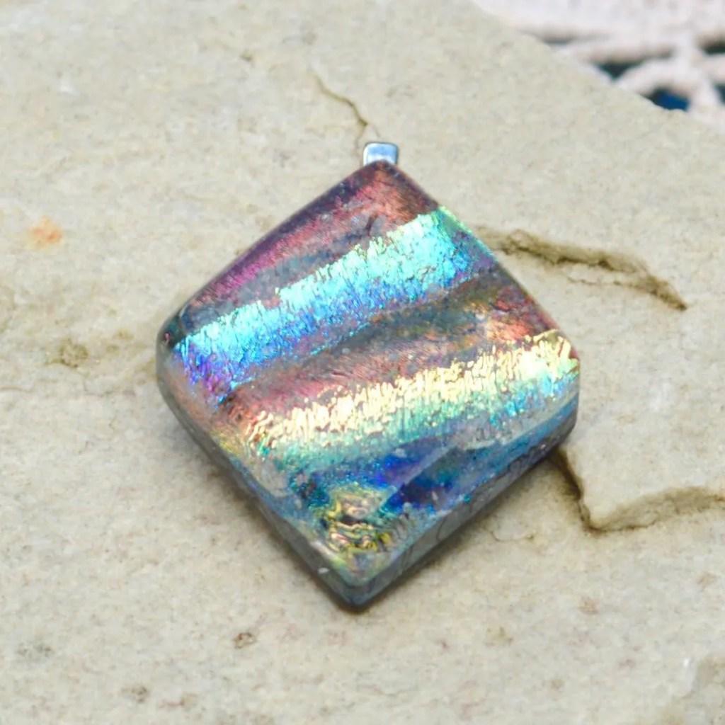Wickstead's-AW-Designs-UK-Iridescent-Mixed-Colour-Diamond-Dichroic-Glass-Pendant-(2)