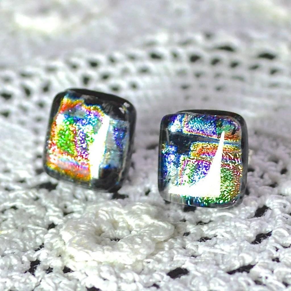 Wickstead's-AW-Designs-UK-Rainbow-Metallic-Sterling-Silver-Dichroic-Glass-Stud-Earrings-(1)