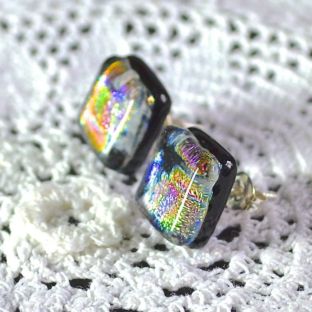 Wickstead's-AW-Designs-UK-Rainbow-Metallic-Sterling-Silver-Dichroic-Glass-Stud-Earrings-(4)