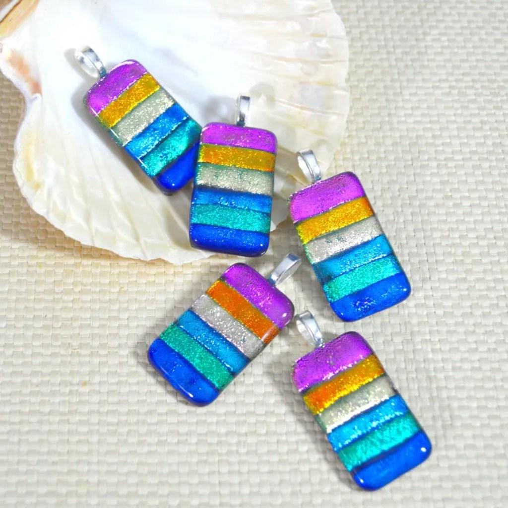 Wicksteads AWDesignsUK Rainbow Dichroic Glass Pendant