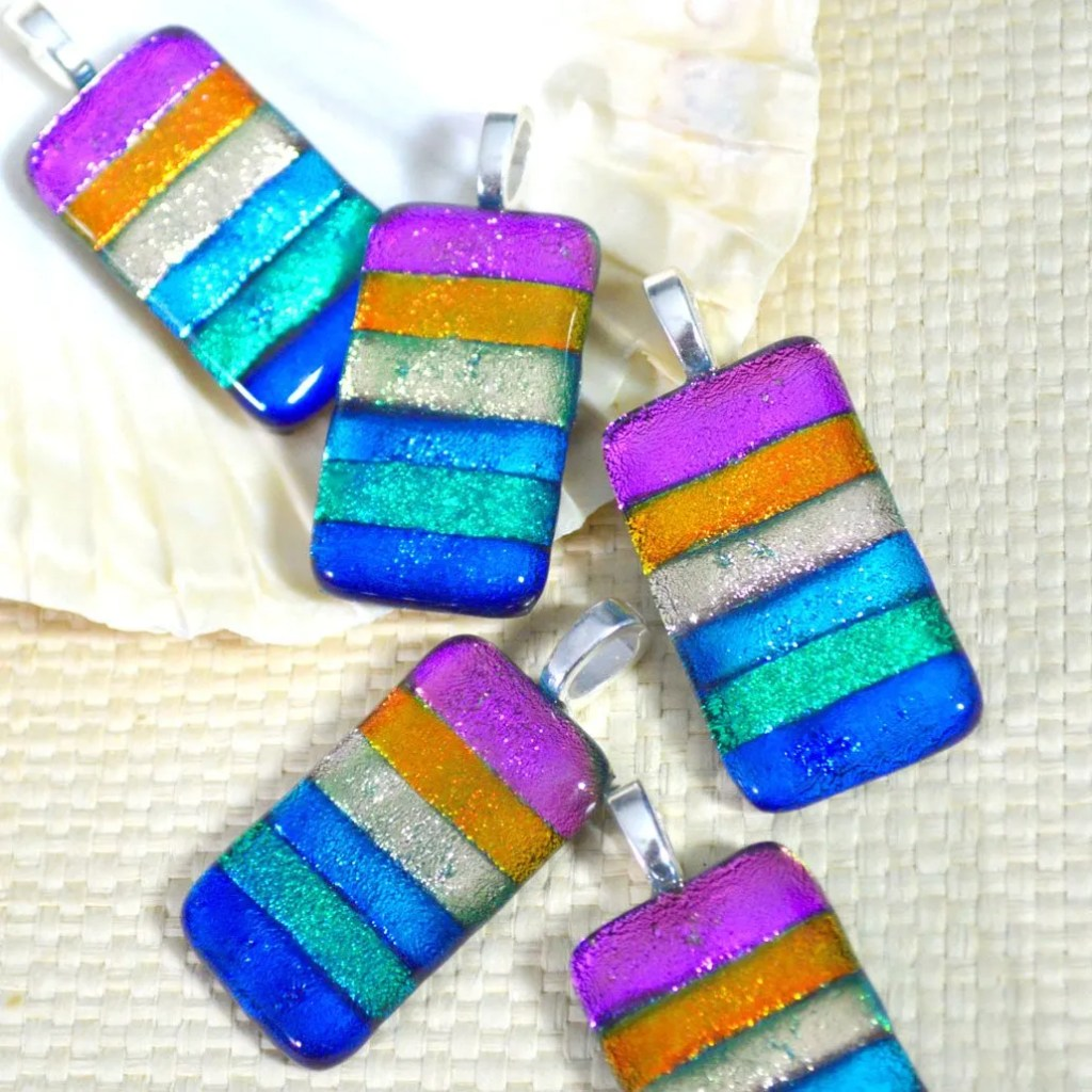 Wickstead's-AW-Designs-UK-Rainbow-Striped-Dichroic-Glass-Pendant-(3)