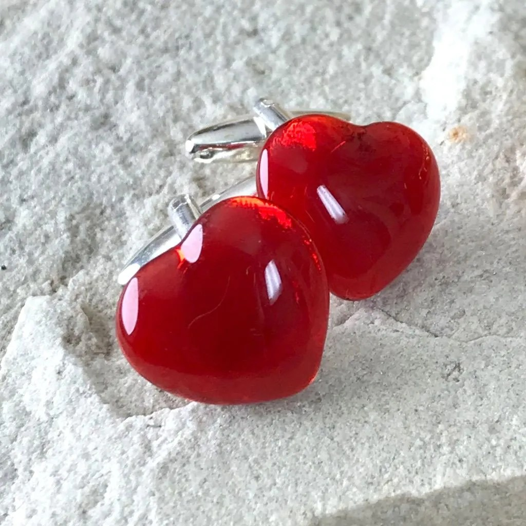 Wickstead's-AWDesigns-Red-Heart-Fused-Glass-Cufflinks-(2)