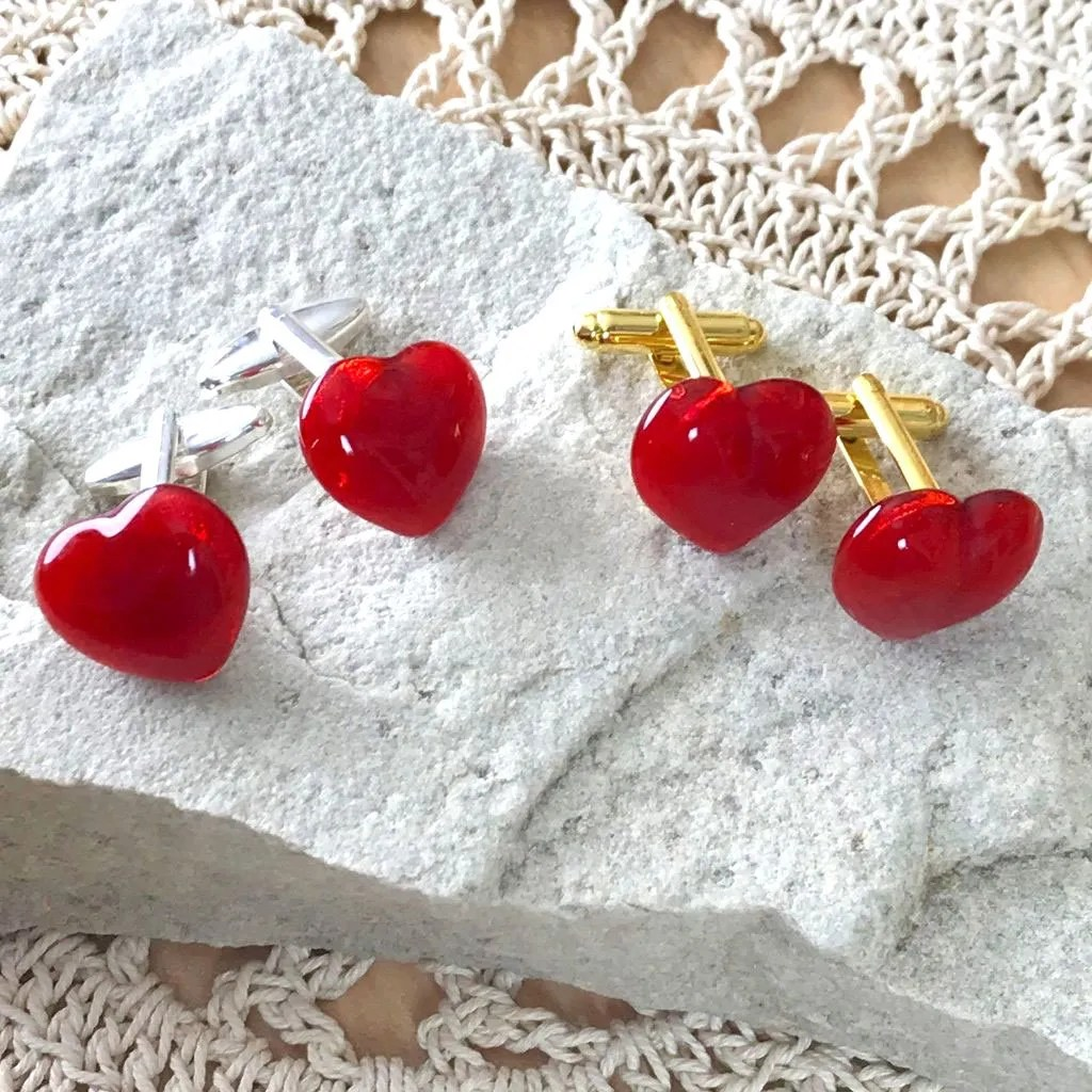 Wickstead's-AWDesigns-Red-Heart-Fused-Glass-Cufflinks-(6)