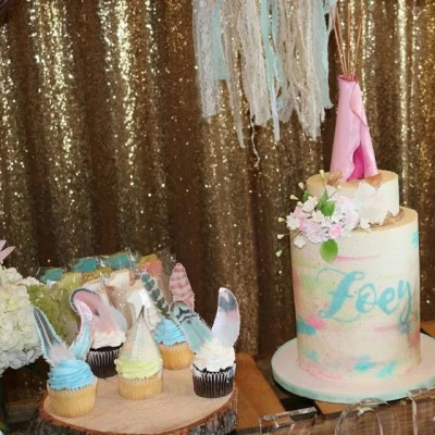 Wickstead's-Customer-Photo-of-our-XLarge-Cotton-Candy-Feathers-on-Cupcakes
