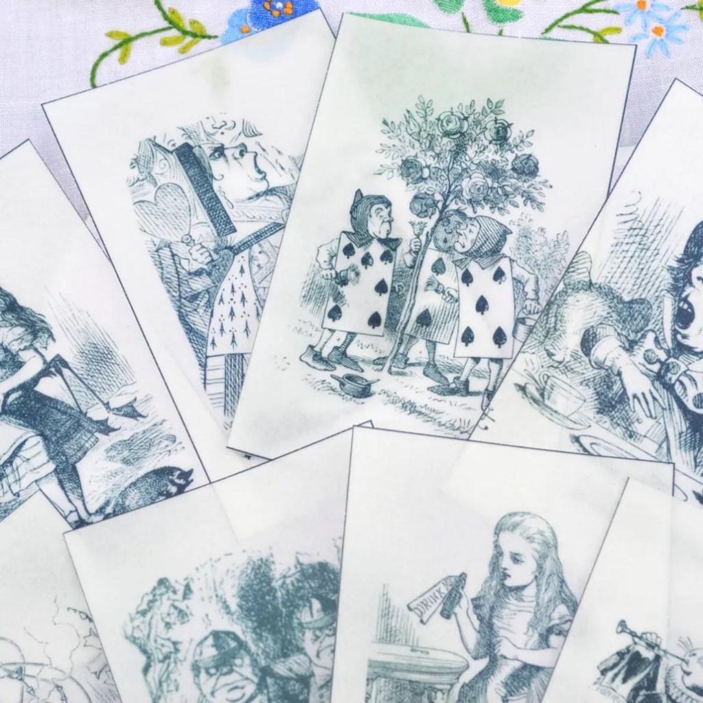 Wickstead's-Eat-Me-Edible-Black-&-White-Alice-in-Wonderland-Illustrations-x-8-(6)