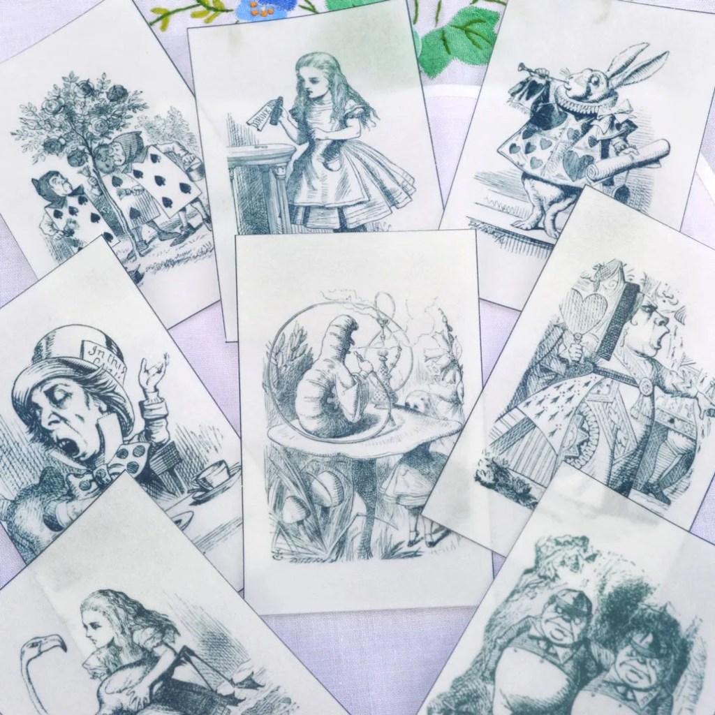 Wickstead's-Eat-Me-Edible-Black-&-White-Alice-in-Wonderland-Illustrations-x-8-(8)
