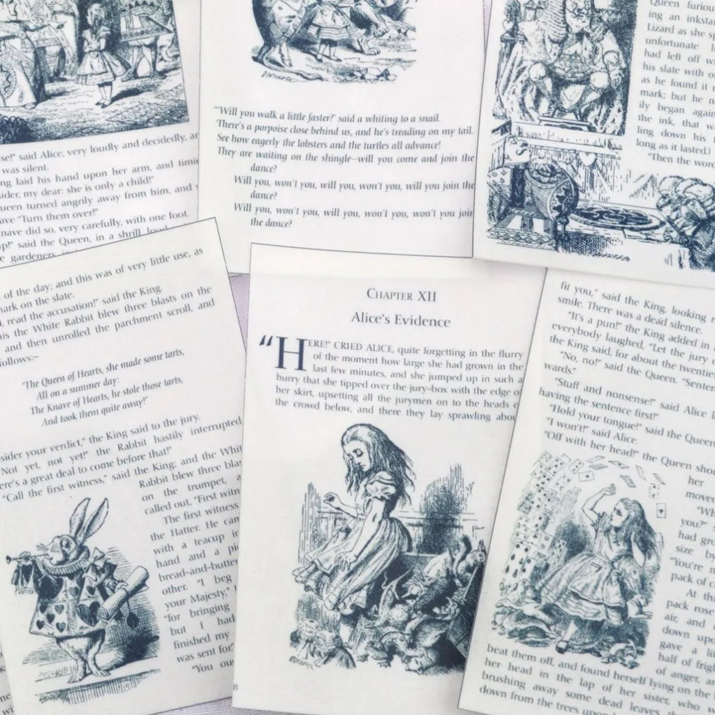 Wickstead's-Eat-Me-Edible-Images-Alice-in-Wonderland-Set-2-Black-White-Book-Pages-(2)