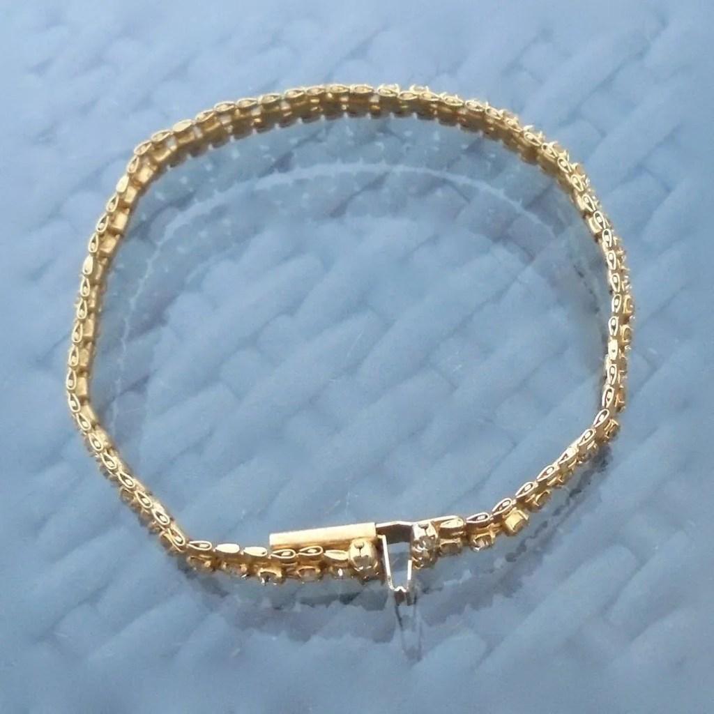 Wickstead's-Jewels-Treasures-Vintage-Costume-Jewellery-Gold-Chain-Bracelet-Clear-Diamante-Rhinestones-(1)