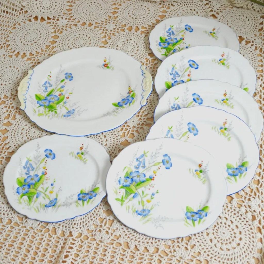 Wickstead's–Home-&-Living–Paragon-Blue-Primerose-Plates-(4)