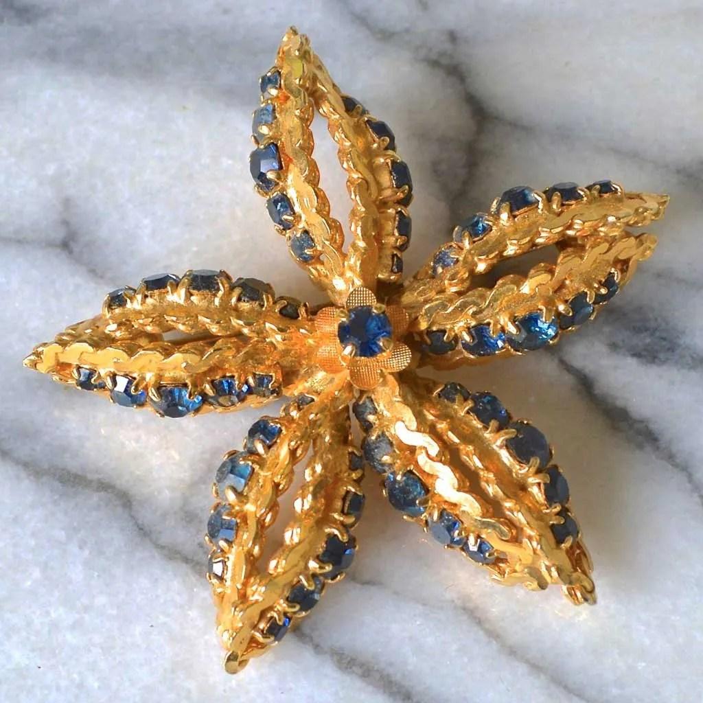Wicksteads-Jewels-and-Treasures–Vintage-Jewellery-Brooch-Star-Flower-(1)