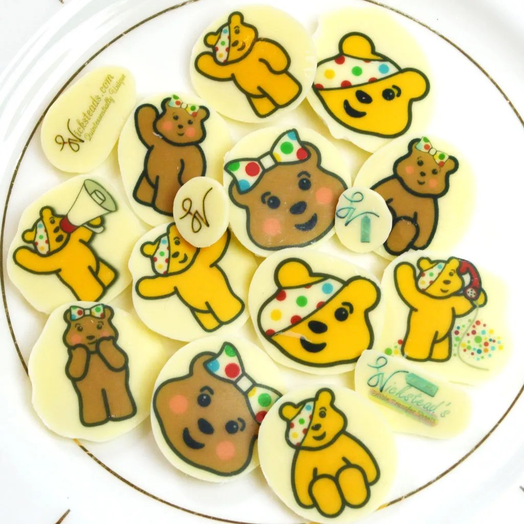 Wickstead's-Eat-Me-Edible-Meringue-&-Chocolate-Transfer-Sheets–Pudsey-&-Blush-Children-in-Need-Charity-Characters-(4)