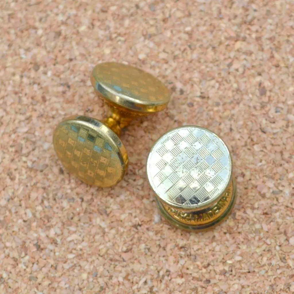 Wickstead's-Mr-Wickstead-Vintage-Cufflinks-Double-Ended-Gold-Retractable-Chain-checkerboard-(2)