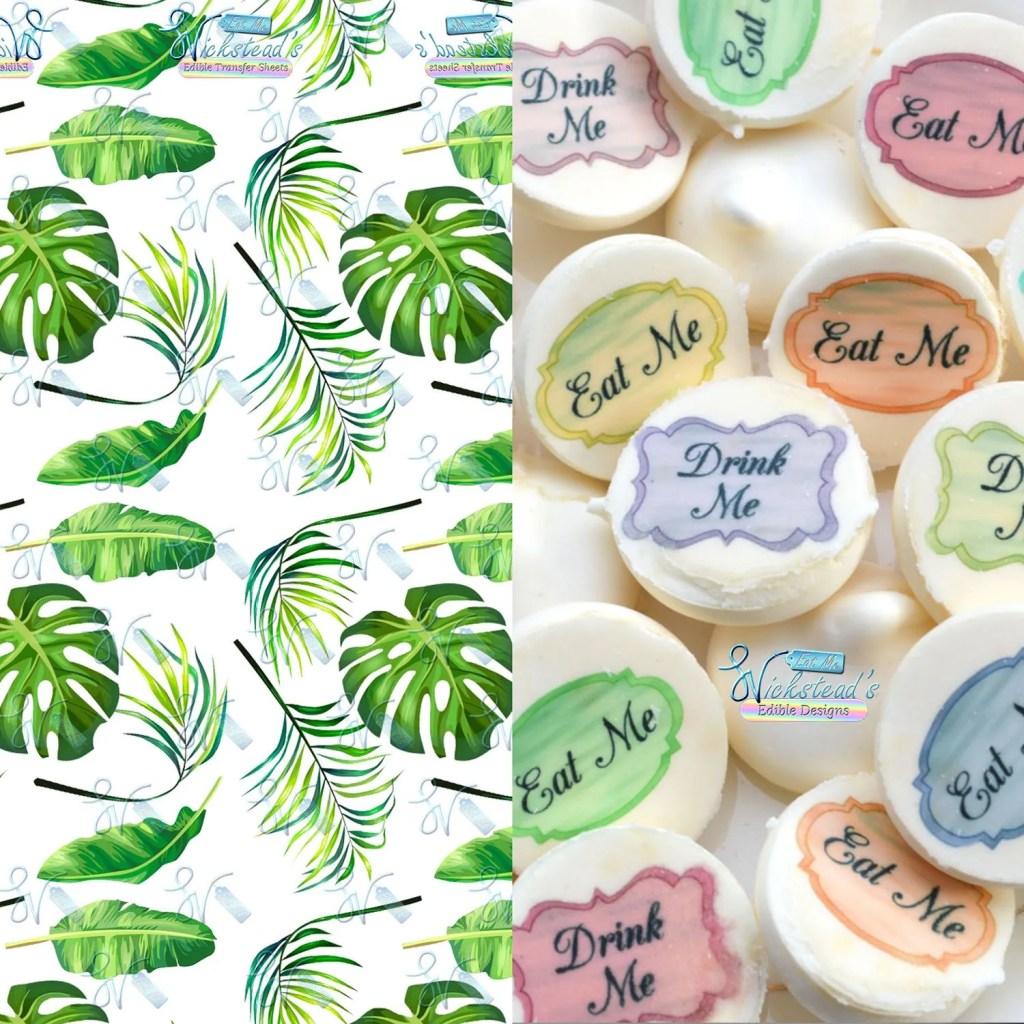 Wickstead's-Eat-Me-Edible-Meringue-Transfer-Sheets–Tropical-Paradise-Leaves-(1)