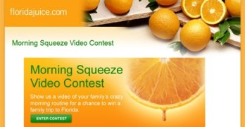 Sunday Sweeps – The Morning Squeeze Video Contest