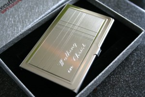 Executive Gift Shoppe Criss Cross Business Card Holder