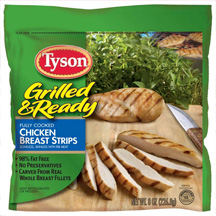 Tyson Grilled & Ready Chicken Strips