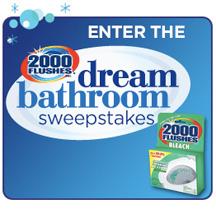 2000 Flushes Dream Bathroom Sweepstakes