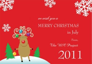 Xmas in July Card