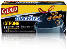 Glad ForceFlex Black Bags