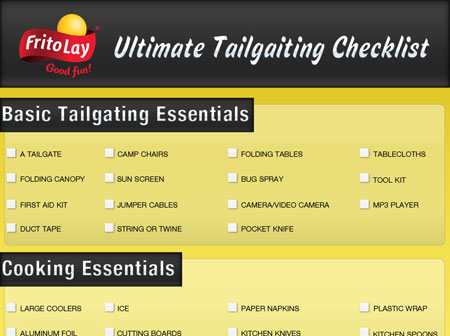 Ultimate Tailgating Checklist