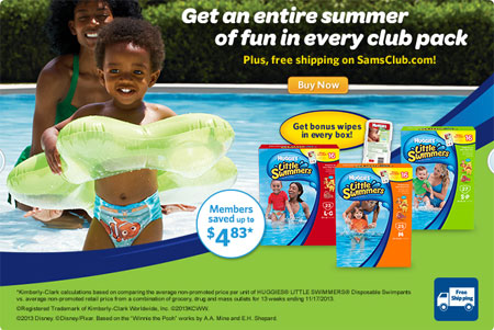 Huggies Little Swimmers at Sam's Club